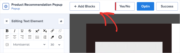 Add Blocks to Product Recommendation Campaign