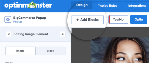 Add Blocks to your BigCommerce Popup