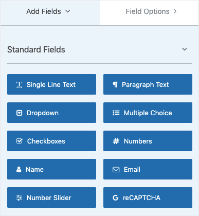 Add fields to WPForms min