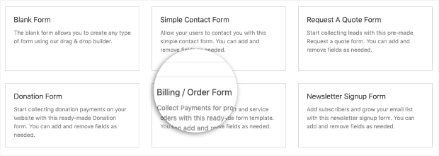 Billing Order Form Template