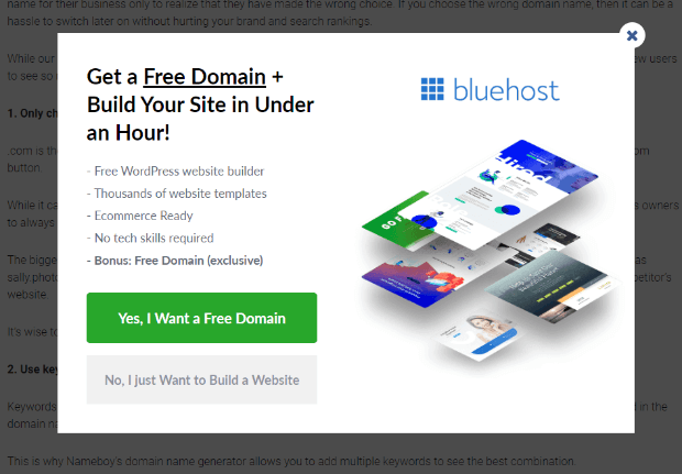 Bluehost Yes_Yes campaign