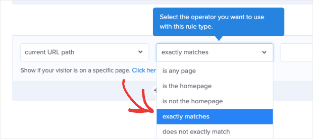 Change current url to exactly matches