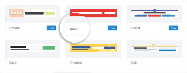 Choose Alert floating bar template min