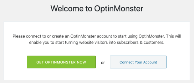 Connect your OptinMonster account to WordPress