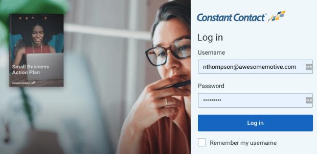 Constant Contact Account login