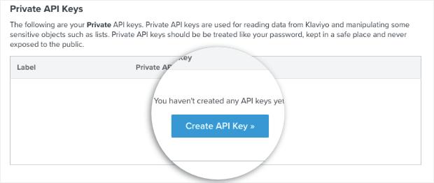Create a New API Key