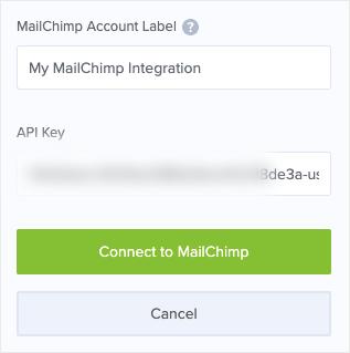 Enter MailChimp API key into OptinMonster