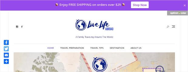 Free shipping bar demo full browser