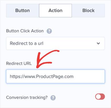 Insert URL redirect min