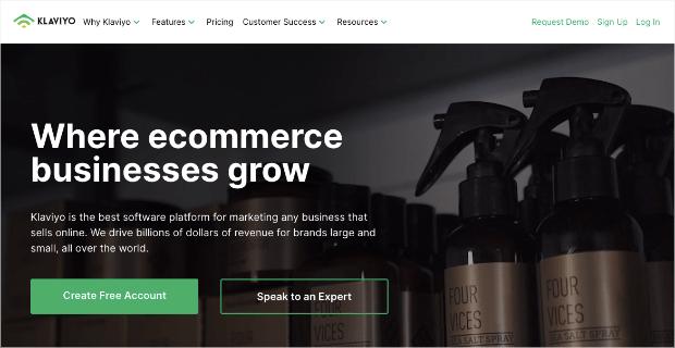 Klaviyo Homepage