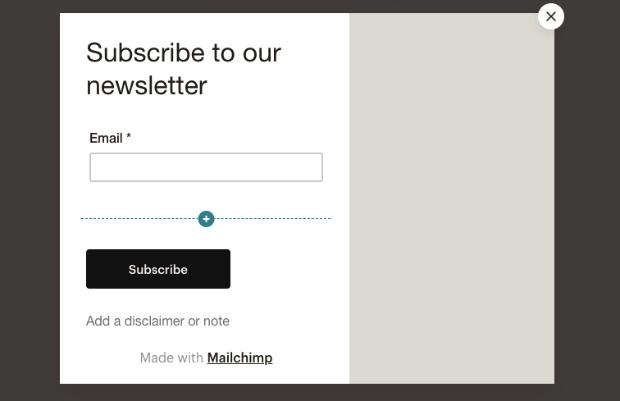 MailChimp layout option