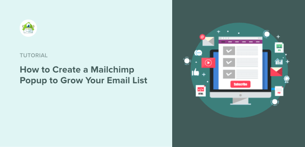 Mailchimp popup featured image update spelling