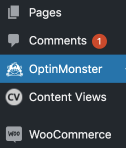 OptinMonster in WordPress dashboard