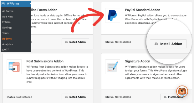PayPall Install Addon for WPForms min