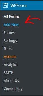 Add New WPForm