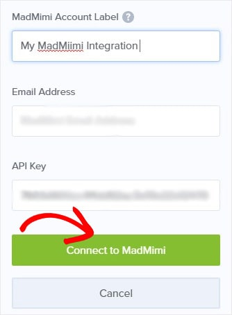 Connect Mad Mimi to OptinMonster