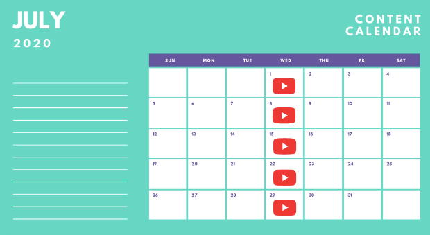 Content Calendar for YouTube
