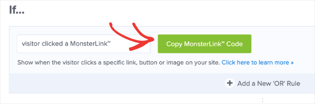 Copy MonsterLink Code new OptinMonster editor