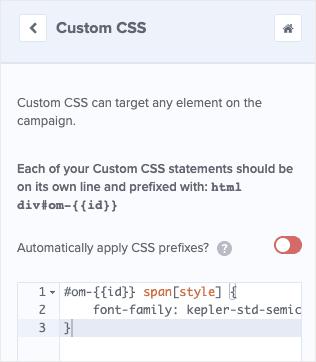 Custom CSS fieldbox OptinMonster min