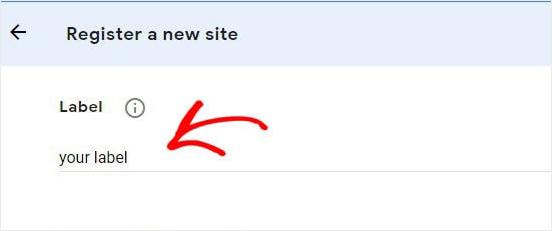 Le label Google recaptcha
