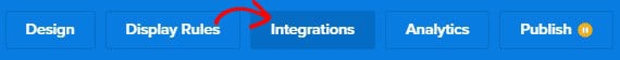 Integrations ribbon