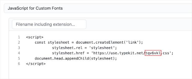 JavaScript Git for Custo Font