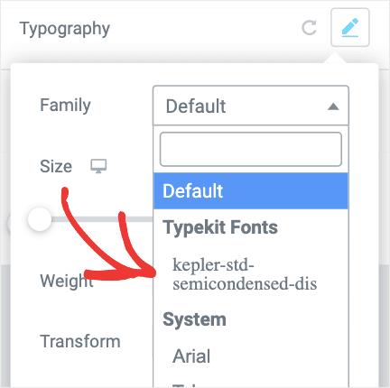 Kepler Font in WordPress min