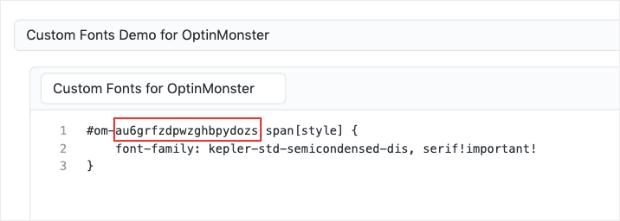 OM custom fonts Git min