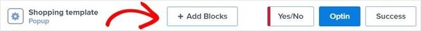 OptinMonster blocks ribbon