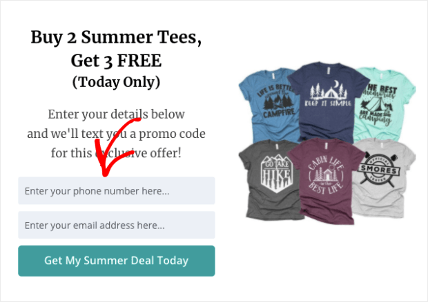 SMS-Popup-summer-deal