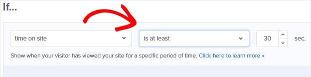 Règle des 30 secondes pour le temps passé sur le site
