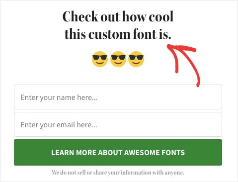 cool custom font demo
