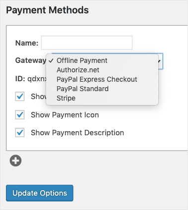 payment methods for memberpress