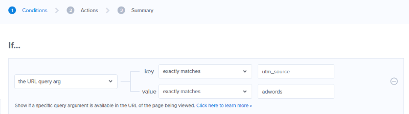 If the URL query arg key exactly matches utm_source, and value exactly matches adwords