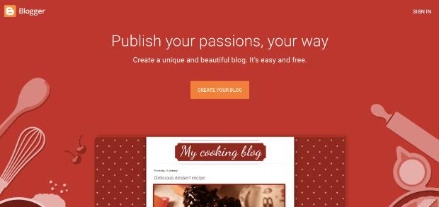 Page d'accueil du blog des blogueurs