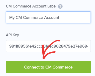 Connect to CM Commerce