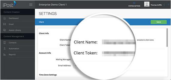 Ipost client information