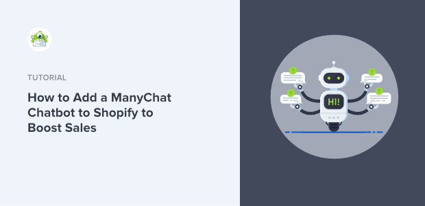 ManyChat Chatbot to Shopify Featured Image