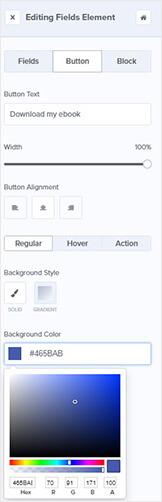 Outils d'édition du bouton OptinMonster