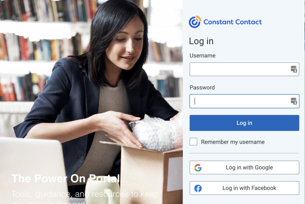 Login to Constant Contact