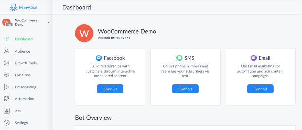 WooCommerce Demo ManyChat