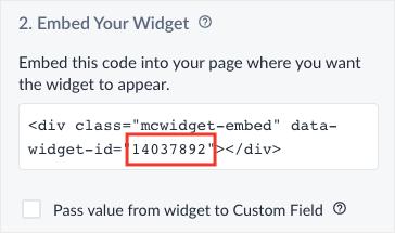 find manychat widget id