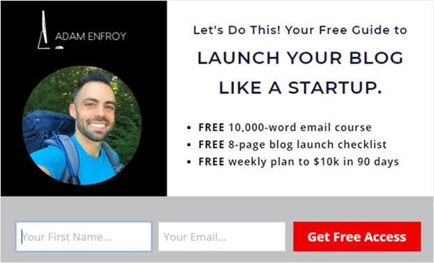 Adam Monsterlinks WordPress popup