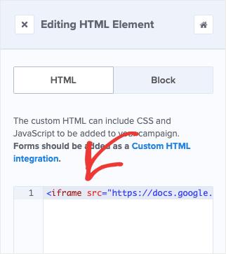 Add HTML to OptinMonster