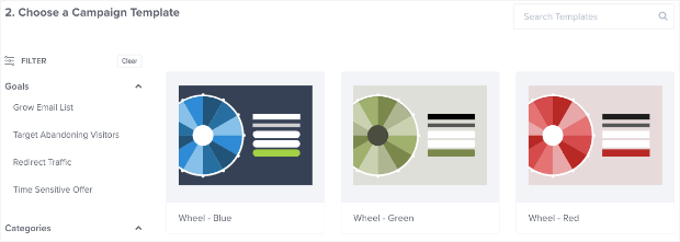 Gamified template colors