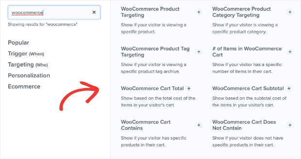 OptinMonster WooCommerce Targeting Rules