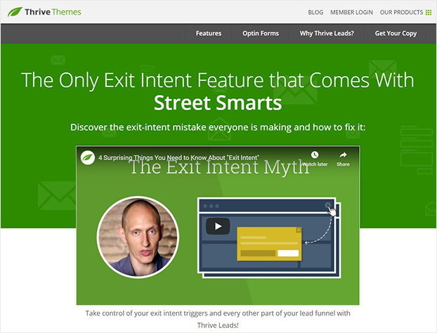 Thrive Leads SmartExit