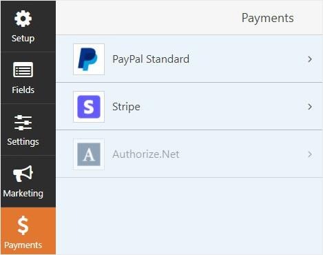 WPforms payment methods reduce cart abandonment