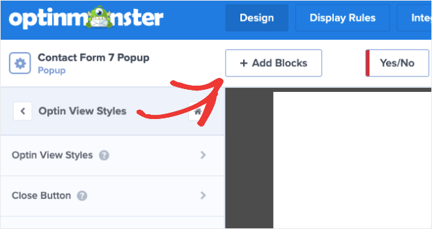 Add Blocks to Contact Form 7 Popup
