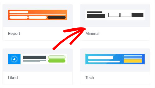 Choose Minimal floating bar template_